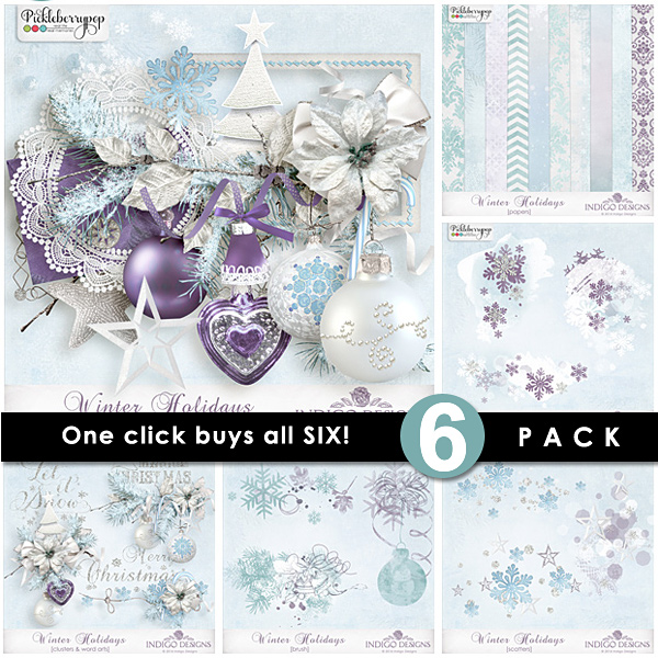 Winter Holidays ~ 6-Pack plus FWP by Indigo Designs