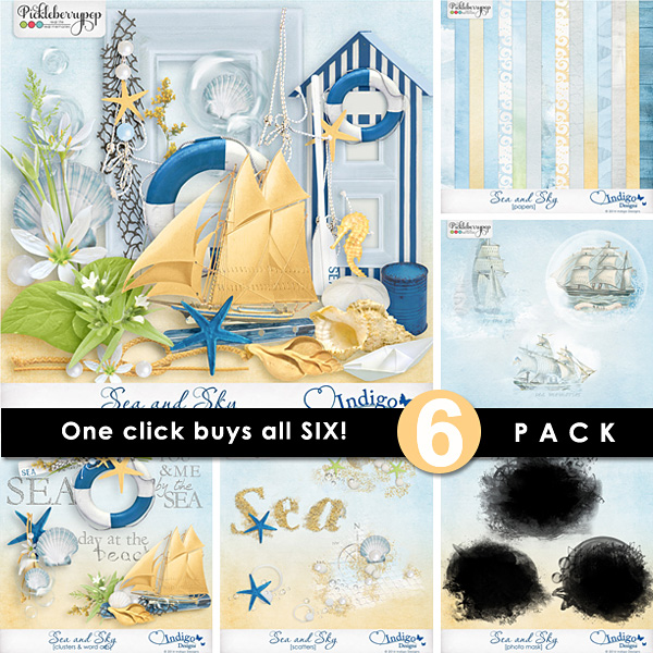 Sea and Sky ~ 6-Pack plus FWP by Indigo Designs
