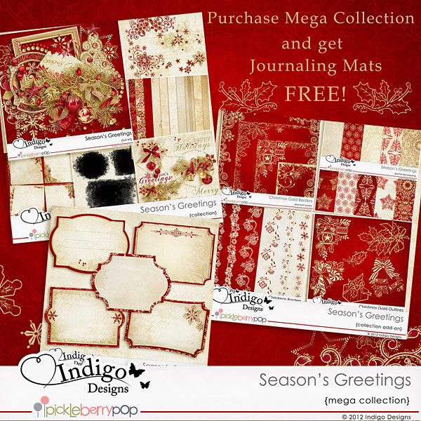 Season's Greetings Mega Collection with FREE Journaling Mats