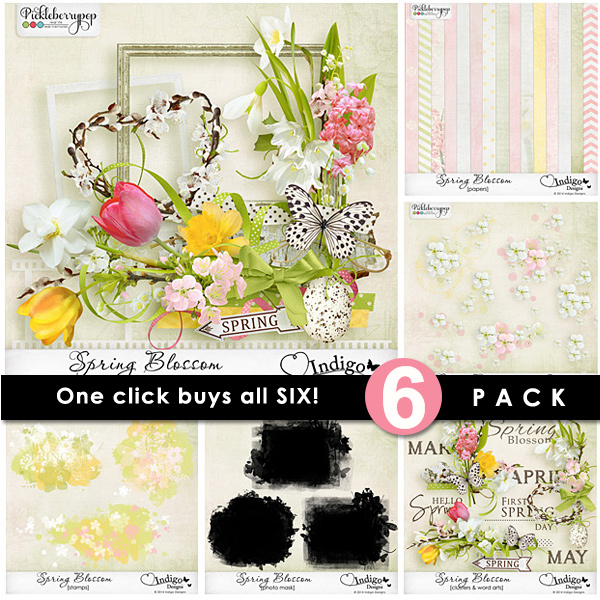Spring Blossom ~ 6-Pack plus FWP by Indigo Designs