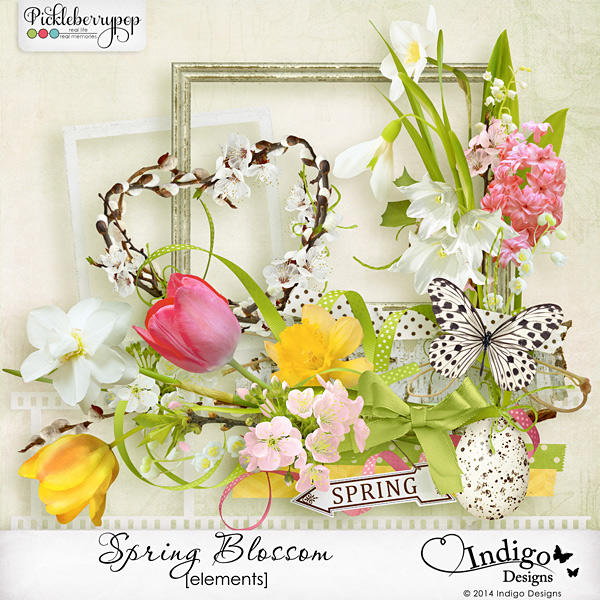 easter page scrapbooking kit