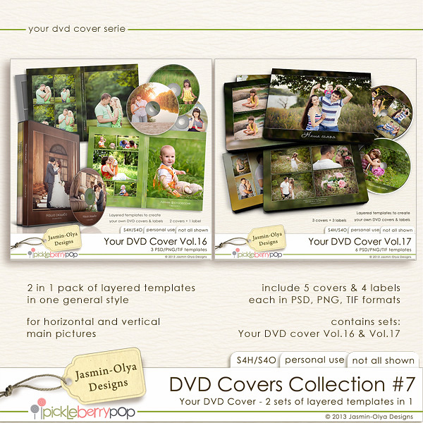 DVD Covers Collection #7 (Jasmin-Olya Designs)