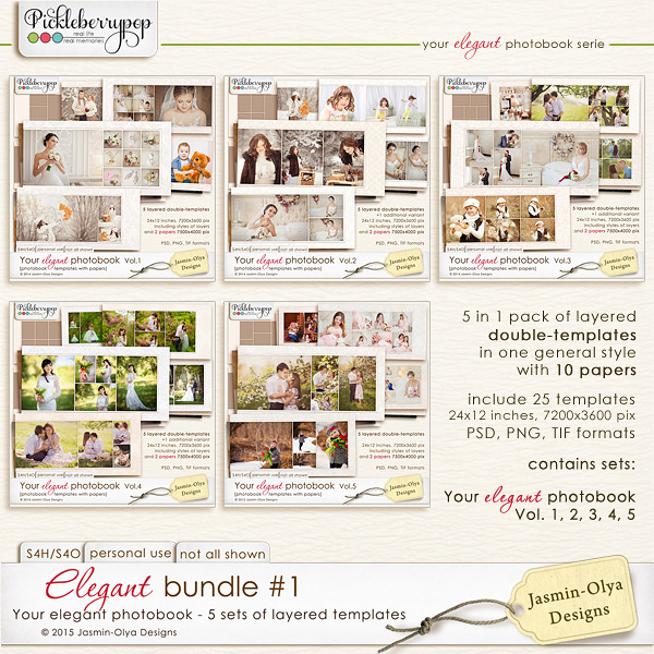 Elegant bundle #1 (Jasmin-Olya Designs)