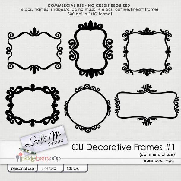 cu decorative frames c1 - Decorative Picture Frames
