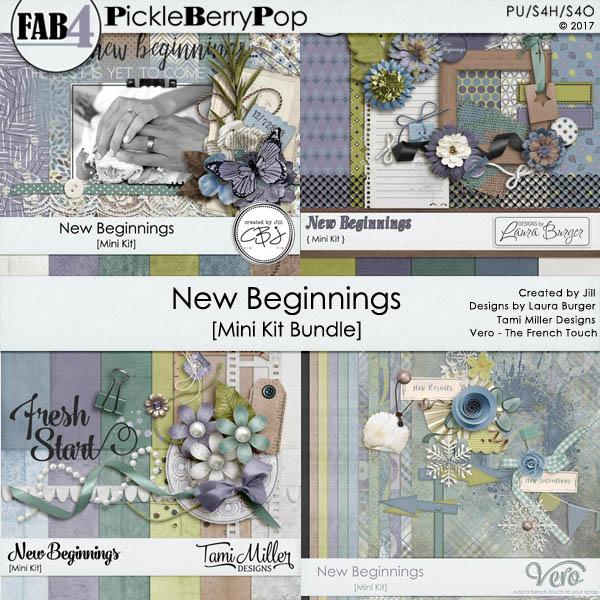 New Beginnings - January 2017 Fab 4 Mini Kit Bundle