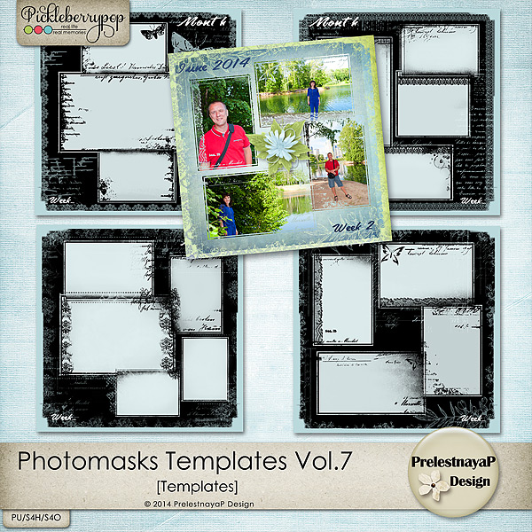 Photomasks templates Vol.7 by PrelestnayaP Design