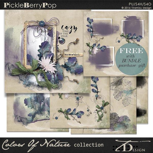 Colors Of Nature ~ Bundle plus FREE GIFT by Tiramisu design