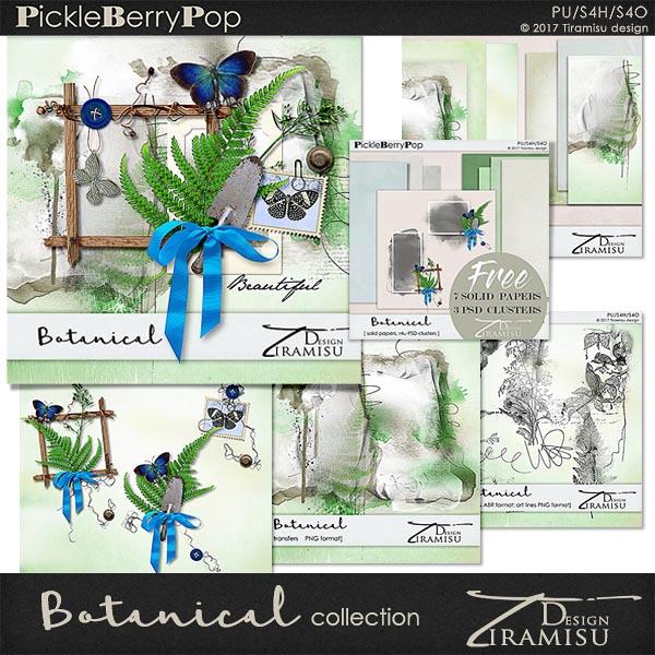 Botanical ~ Mini Collection plus FREE GIFT by Tiramisu design