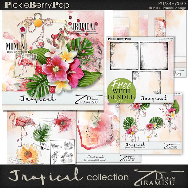 Tropical ~ Mini Collection plus FREE GIFT by Tiramisu design