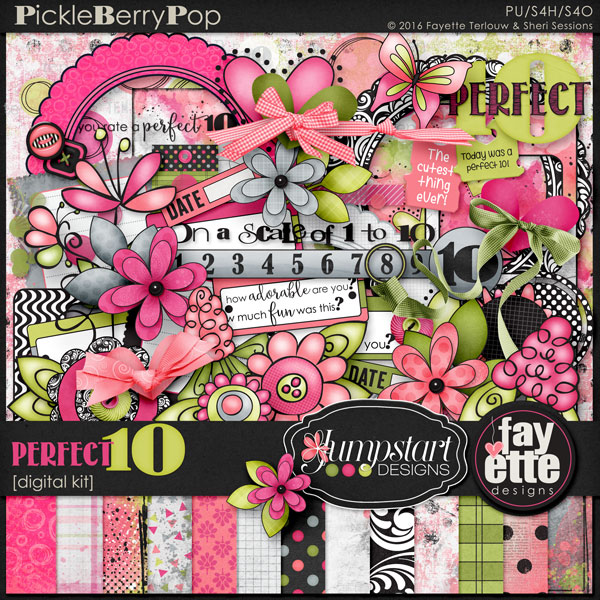Perfect 10, a Digi Duos Kit by Fayette Designs & Jumpstart Designs