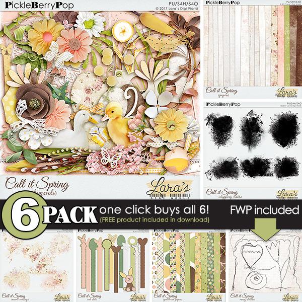 Call it Spring {6-Pack plus FWP} by Lara's Digi World