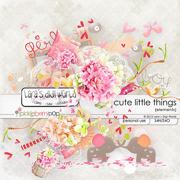 Cute Little Things elements by Lara´s Digi World