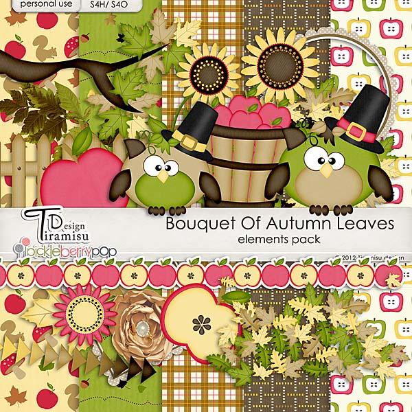 Bouquet Of Autumn Leaves  by Tiramisu design