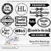 Beautiful Blessings Digital Stamps