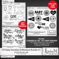 CU Baby Doodles and Wordarts Bundle #1
