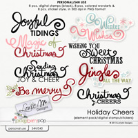 Holiday Cheers Digital Stamps