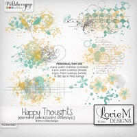Happy Thoughts Paint Overlays
