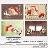 Home is where the Heart is cards, clusters & wordarts by Lara´s Digi World