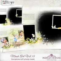 MaskArt Template 2in1 Vol.18 by Indigo Designs