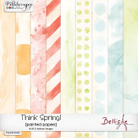THINK SPRING! | painted papers