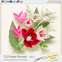 CU Paper Flowers Vol.1 (Jasmin-Olya Designs)