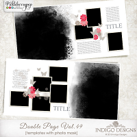 Double Page Templates with Mask Vol.49 by Indigo Designs